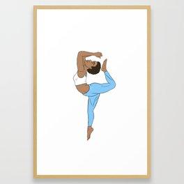 HigHERself Kemetic Yoga Sky Blue Framed Art Print