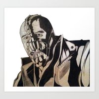 bane Art Prints featuring Bane  by iArtSometimes