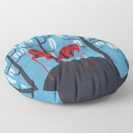 Smug red horse Floor Pillow