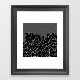 Ab Lines 45 Black Framed Art Print