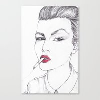 ruby Canvas Prints featuring RUBY by Rachel E Murray