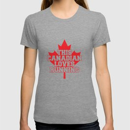 This Canadian Loves Running T-shirt