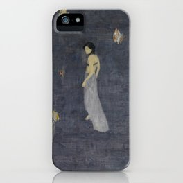 Lingering in the ups and downs of the sound. iPhone Case