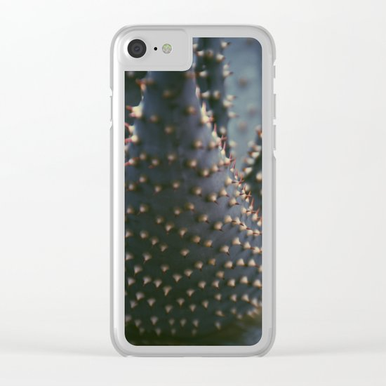 Prickly Succulent Clear iPhone Case