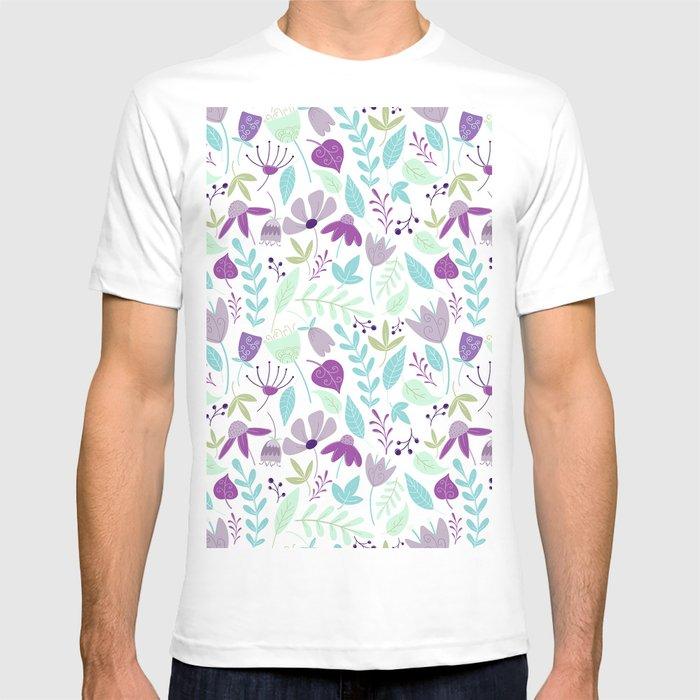 Flowers Make Me Happy Pattern T-shirt