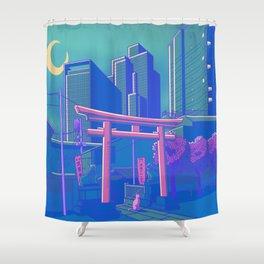 Neon Moon Shower Curtain
