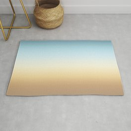 beach color gradient Rug
