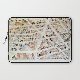Greenwich Village Map by Harlem Sketches Laptop Sleeve