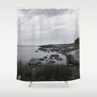 religious Shower Curtains featuring In the north by UtArt