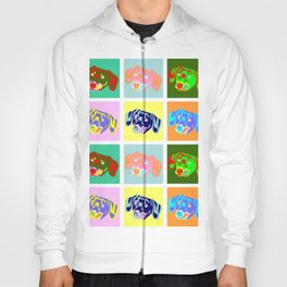 Dachshund Pop Art Hoody