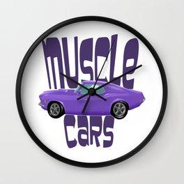 Muscle Cars Wall Clock