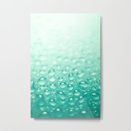 Colorful liquid droplets background wallpaper Metal Print