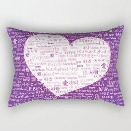 Borderless Love - Purple Rectangular Pillow
