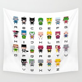 Pixel Supervillain Alphabet 2 Wall Tapestry