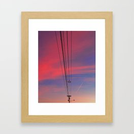 Blazing Lines Framed Art Print