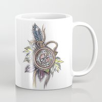 compass Mugs featuring Compass by byfgal