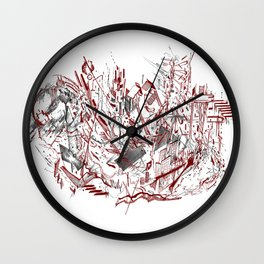 Dynamic Space (Red) Wall Clock