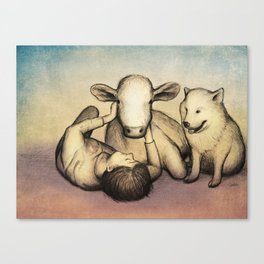 Brothers from the same Mother Canvas Print