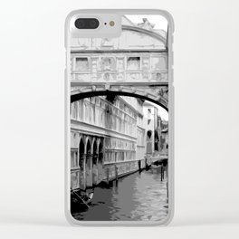 The Bridge of Sighs in Venice Italy Travel Clear iPhone Case