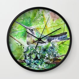 Hummingbird Nest Wall Clock