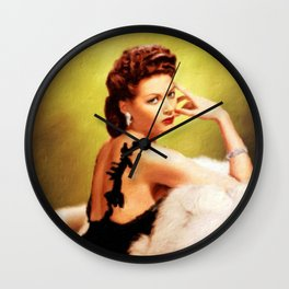 Yvonne De Carlo, Hollywood Legend Wall Clock