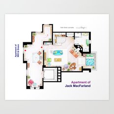 Jack MacFarland's apartment from 'Will and Grace' Art Print