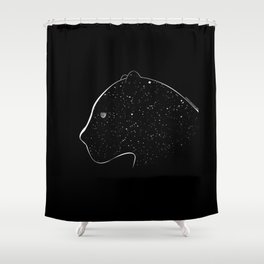 Moon-eyed star panther Shower Curtain