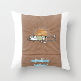 Drink it out of the bottle Throw Pillow