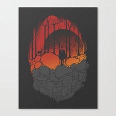 Dark Sunshine Canvas Print