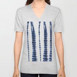 Indigo Blue Tie Dye Delight Unisex V-Neck