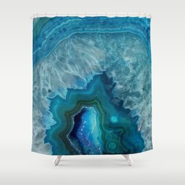 Agate Crystal Slice Shower Curtain