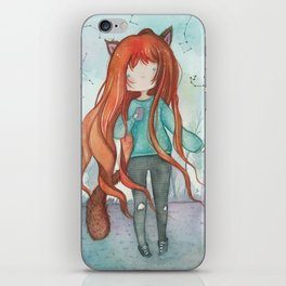 Wolf girl iPhone Skin
