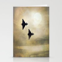 foo fighters Stationery Cards featuring Euro Fighters by Peaky40