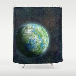Unknown planet. Shower Curtain