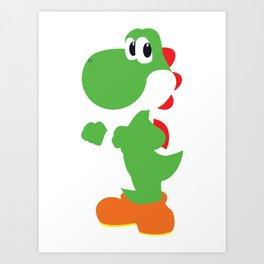 Yoshi - Minimalist - Nintendo Art Print