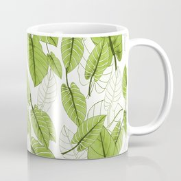 Lovely Leaves in Green Shades - Spring Summer Mood - Green and White #decor #society6 #buyart Coffee Mug