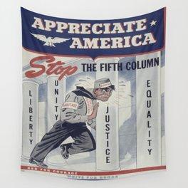 Vintage poster - Appreciate America Wall Tapestry