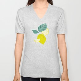 Lemons and Slices Unisex V-Neck