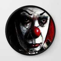 pennywise Wall Clocks featuring Pennywise by Alycia Plank