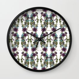 Paige McCann-Gray, Surface Pattern Designer. Heather and Crystal Collection.https://society6.com/pai Wall Clock