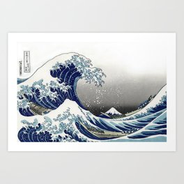 The Great Waves by Hokusai Art Print
