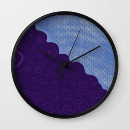 Curly Lasers Wall Clock