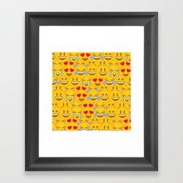 Emojis Framed Art Print