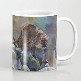 The Mountain King - Cougar Wildlife Art Coffee Mug