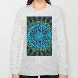 Pretty light  blue and green mandala Long Sleeve T-shirt