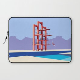 Soviet Modernism: Diving tower in Etchmiadzin, Armenia Laptop Sleeve