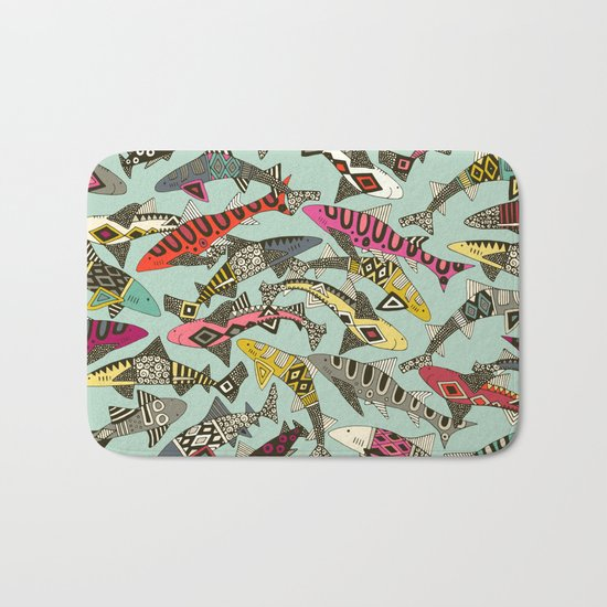 shark party summer Bath Mat