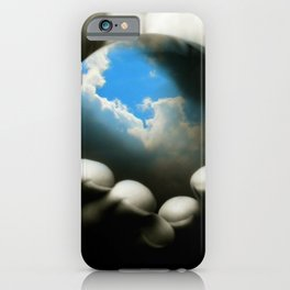 Hands Holding the Earth iPhone Case
