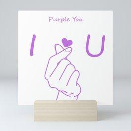 Purple you BTS Mini Art Print