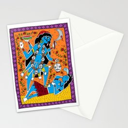 Madhubani Painting / Painting of Kaali/ Madhubani Hub /Original painting of Amrita Gupta Stationery Cards